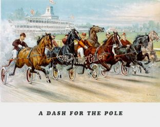 Horseracing & Trotting by Currier and Ives (1800's)